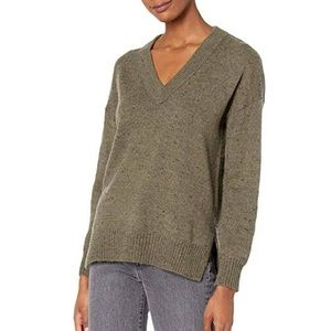 Madewell Donegal Bartlett V-Neck Pullover Sweater in Coziest Yarn size S